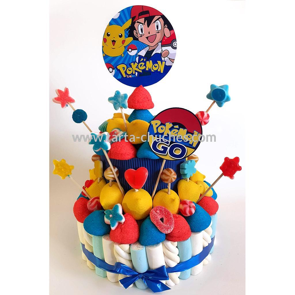 Tarta chuches mediana Pokemon